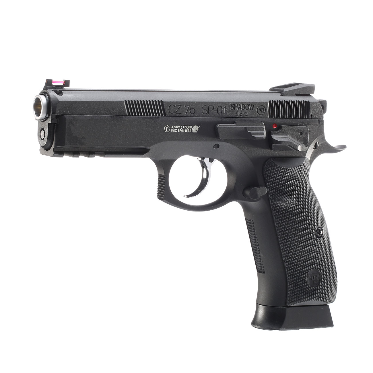 ASG CZ 75 SP-01 Shadow CO2-Luftpistole Kal. 4,5mm BB schwarz Vollmetall Blowback 1