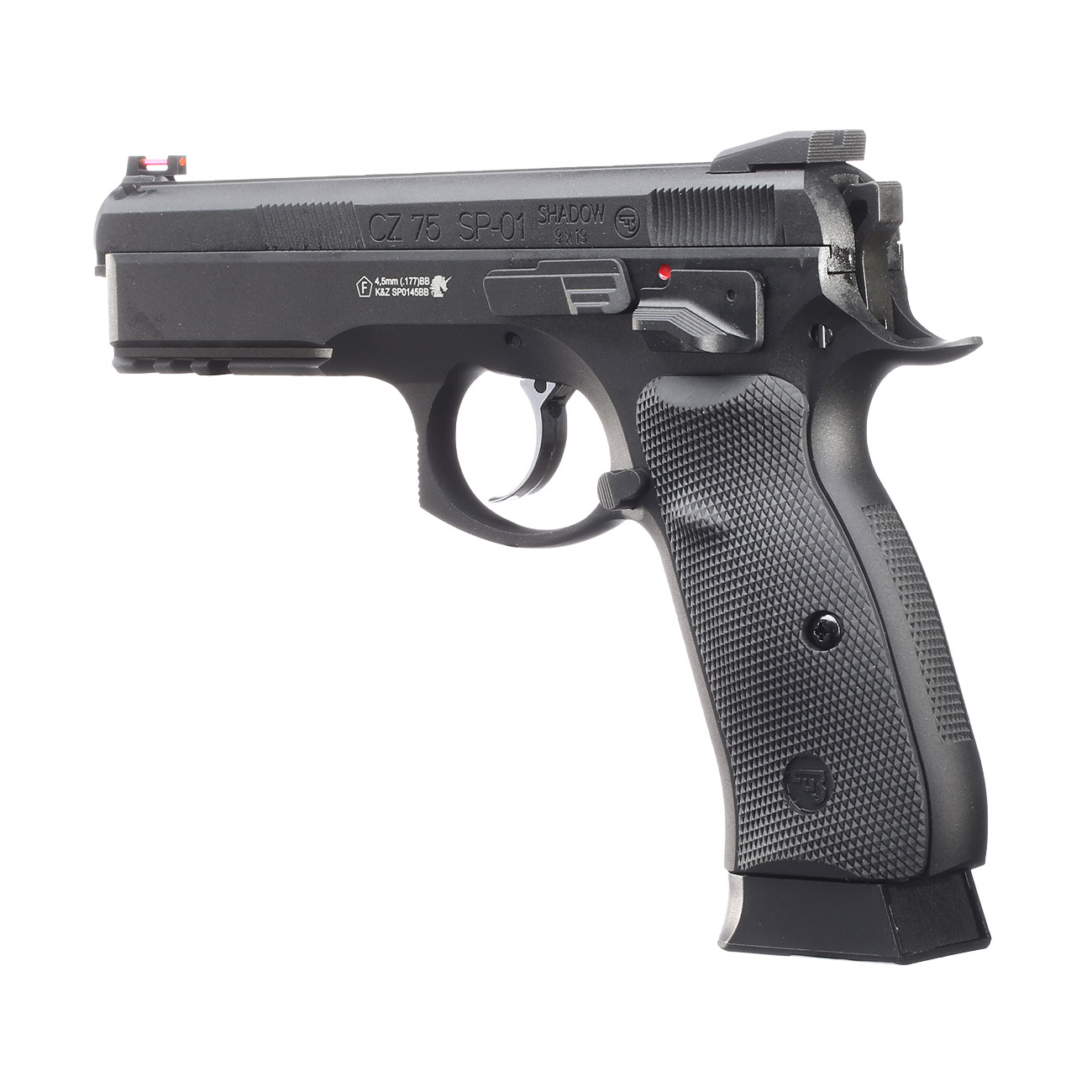 ASG CZ 75 SP-01 Shadow CO2-Luftpistole Kal. 4,5mm BB schwarz Vollmetall Blowback 2