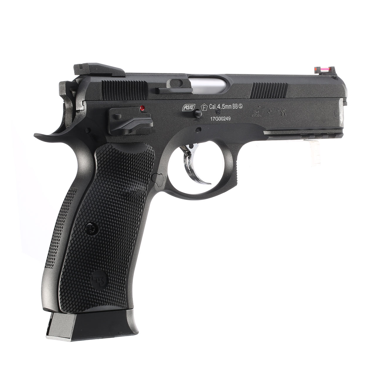 ASG CZ 75 SP-01 Shadow CO2-Luftpistole Kal. 4,5mm BB schwarz Vollmetall Blowback 4
