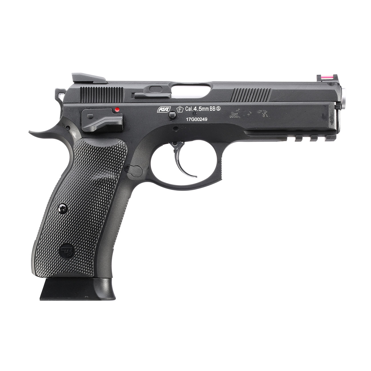 ASG CZ 75 SP-01 Shadow CO2-Luftpistole Kal. 4,5mm BB schwarz Vollmetall Blowback 5