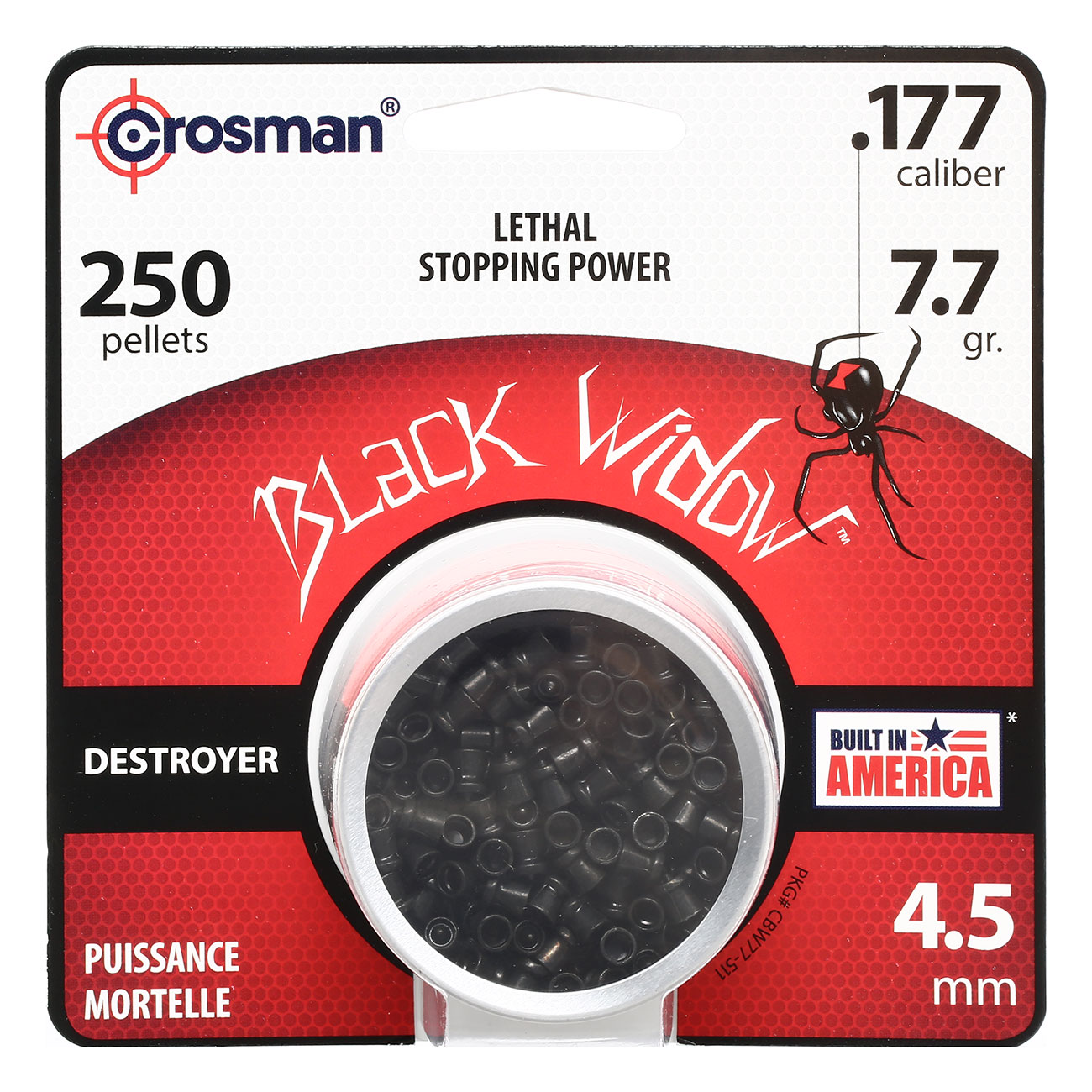 Crosman Black Widow Spitzkopf-Diabolos Lethal Destroyer 4,5mm 250 Stück 0