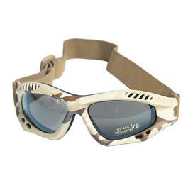Mil-Tec Brille Commando Air-Pro smoke desert