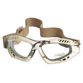 Mil-Tec Brille Commando Air-Pro klar desert