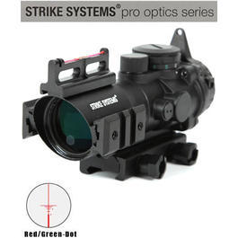 Strike Systems Red-/Green-Dot Scope m.Fiberoptic 4x32mm