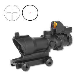 Aim-O TA01 Style Scope 4x32 mit Mini RedDot Visier schwarz 5317-BK