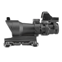 Aim-O TA01 Style Scope 4x32 QD-Mount mit Mini RedDot Visier schwarz 5316-BK