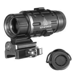 Luftgewehre - UTG 3X Magnifier mit Flip-To-Side QD-Halterung schwarz