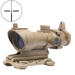 Aim-O TA01 Style Scope 4x32 rot / grün beleuchtet mit QD-Mount tan AO 5319-DE