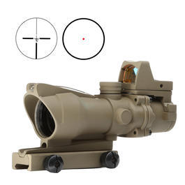 Aim-O TA01 Style Scope 4x32 Fiber bel. m.Micro RedDot Visier tan AO 1003-DE