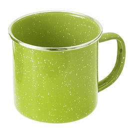 GSI Emaille Tasse gr�n 355ml
