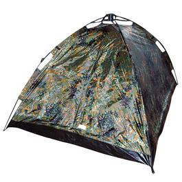 2-Mann Schnellaufbau-Zelt EasyTec flecktarn