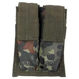 Outdoorshop - 2-fach Magazintasche klein, Molle, flecktarn