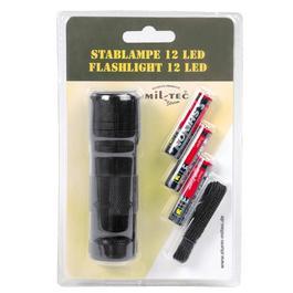 Ausrüstung - Stablampe 12 LED, schwarz