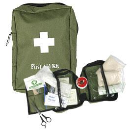 Erste Hilfe Tasche, oliv, 18 x 12 x 7 cm