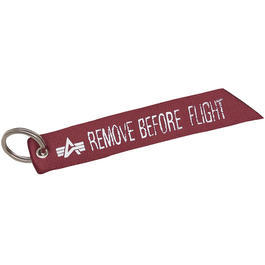 Schlüsselanhänger Alpha Industries Remove before flight