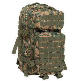 US Assault Rucksack digital woodland