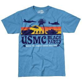 T-Shirt Beach Party blau 7.62