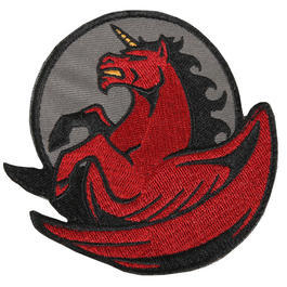 Mil-Spec Monkey Pegasus Unicorn Patch Fire rot