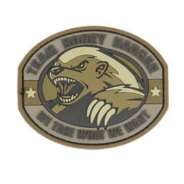 3D Rubber Patch Honey Badger Desert