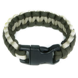 Mil-Spec Cords Cobra Paracord Bracelet oliv / tan