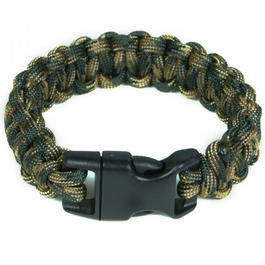 Mil-Spec Cords Cobra Paracord Bracelet woodland