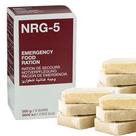 Ausrüstung - Notverpflegung NRG-5 500 g / 9 Riegel