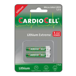 Cardiocell Lithium Extreme Microzelle (AAA, FR03, L92) 2 Stück