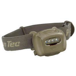 Princeton Tec LED Stirnlampe Tactical Quad oliv