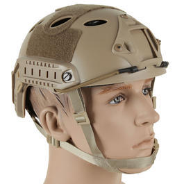 Bravo Airsoft PJ Helm mit NVG Mount Dark Earth Tan