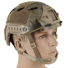 Bravo Airsoft PJ Helm mit NVG Mount AT Camo