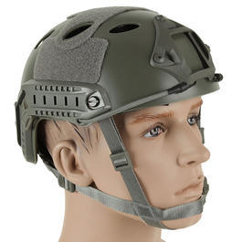 Bravo Airsoft PJ Helm mit NVG Mount Foliage Green