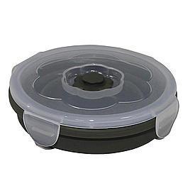 Ausrüstung - Lunchbox faltbar oliv 540ml rund mit Deckel