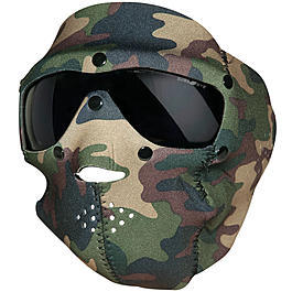 Swiss Eye Neopren Maske mit Brille woodland