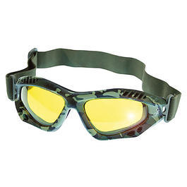 Scorpion Optics Outdoorbrille Tactical Sport Glasses woodland camo/gelb