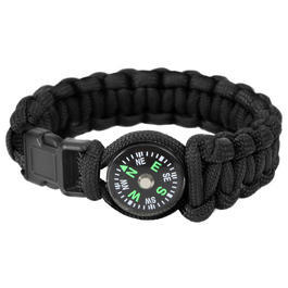 Ausrüstung - Rothco Paracordarmband mit Kompass8 Zoll schwarz