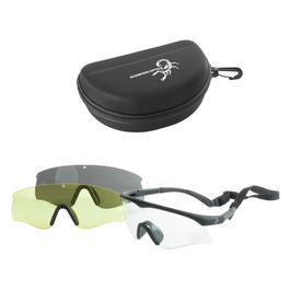 Scorpion Optics Schutz-/Schieß-/Outdoorbrille Tactical Sport Glasses schwarz