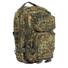 Mil-Tec Rucksack US Assault Pack Laser Cut large 36L flecktarn