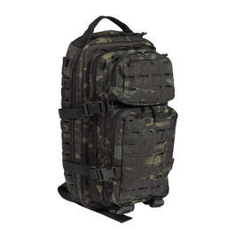 Mil-Tec Rucksack US Assault Pack Laser Cut small 20L multitarn schwarz