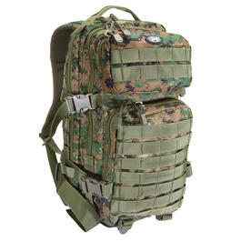 MFH US Rucksack Assault I digital woodland
