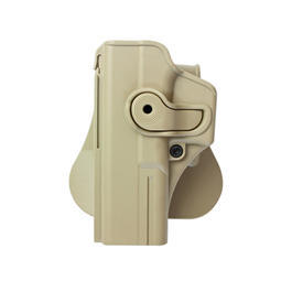 IMI Defense Level 2 Holster Kunststoff Paddle für G 17/22/28/21/34 Links Tan