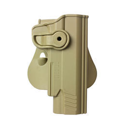 IMI Defense Level 2 Holster Kunststoff Paddle für 1911 Modelle mit Rail tan