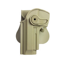 IMI Defense Level 2 Holster Kunststoff Paddle für Beretta 92 Modelle Links Tan