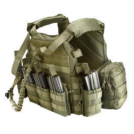 101 INC. Plattenträger Set Tactical Operator oliv