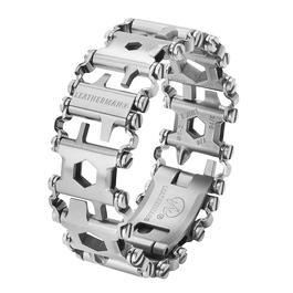 Ausrüstung - Leatherman Tread Multitool Armband silber