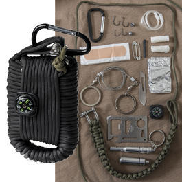 Mil-Tec Paracord Survival Kit large schwarz