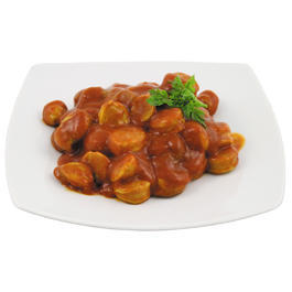 Outdoor-Mahlzeit Currywurst Dose