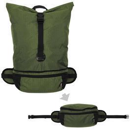 Fox Outdoor faltbarer Rucksack oliv 35 Liter Hüfttasche