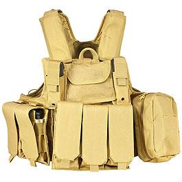 Nuprol RTG Molle Tactical Vest Einsatzweste tan