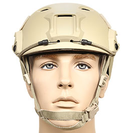 nHelmet FAST BJ Maritime Railed Airsoft Helm mit NVG Mount Dark Earth