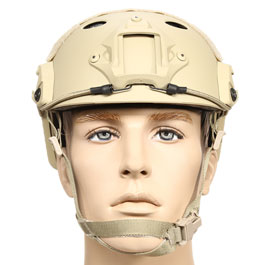 nHelmet FAST PJ Maritime Railed Airsoft Helm mit NVG Mount Dark Earth